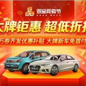 毛豆新车参与双品网购节,提供大力度的优惠促销活动